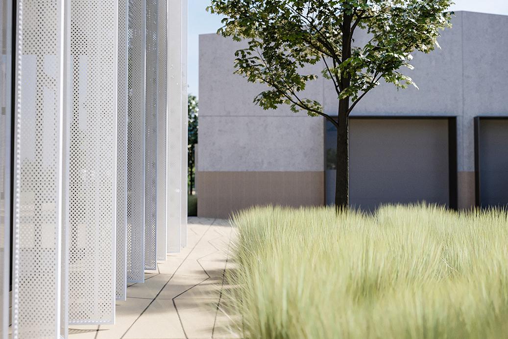 concrete, steel, metal, glass, polycarbonate