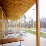 Thermo-oiled red cedar siding