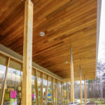 Using wood in retail architecture
