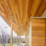 red cedar facade
