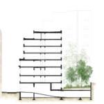 Landscape intervention sketch Sain-Pierre student residence