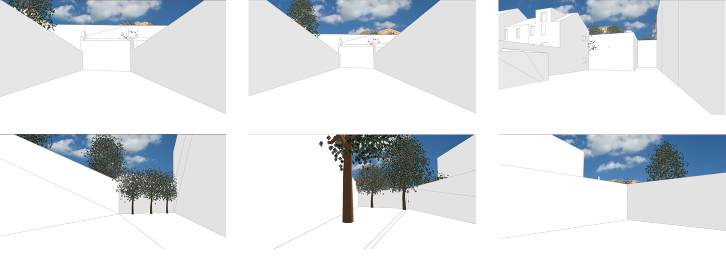 Architecture visual interaction study to identify the impact of the new construction upon the neighbourhood and the other buildings