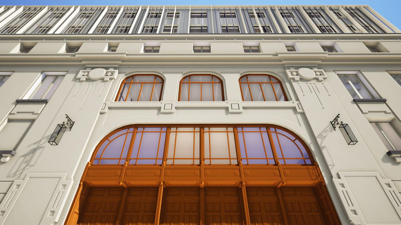 Facade restoration to its original design