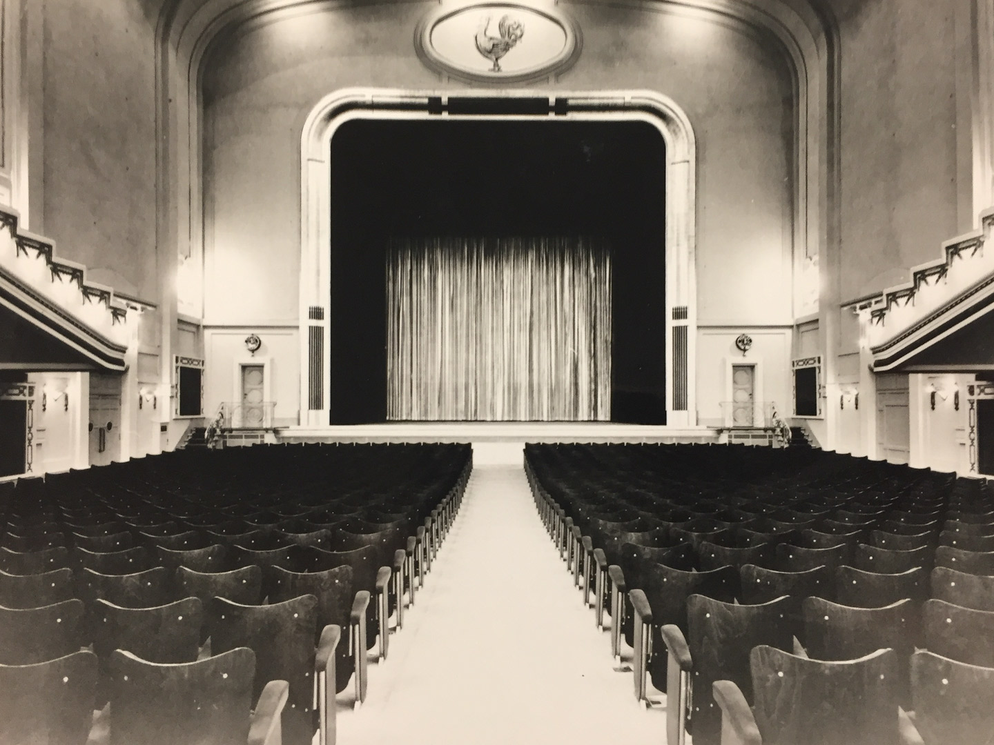 The old theatre hall of Marivaux Cinema