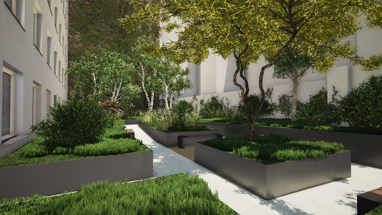 A landscape intervention for an internal courtyard