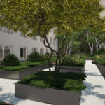 Landscaping project of a garden situated within the block