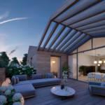 Penthouse terrace details