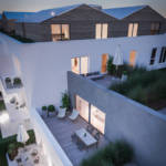 Generous terraces for the residents' benefit