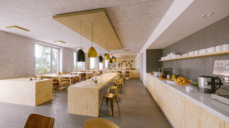 Convivial interior design for the breakfast room
