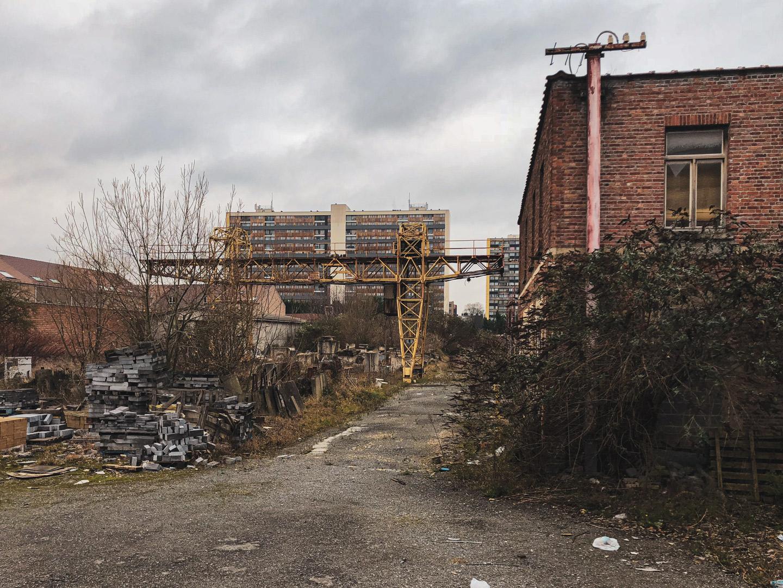 View of the abandoned stonemason workshop in the Maeken neighbourhood
