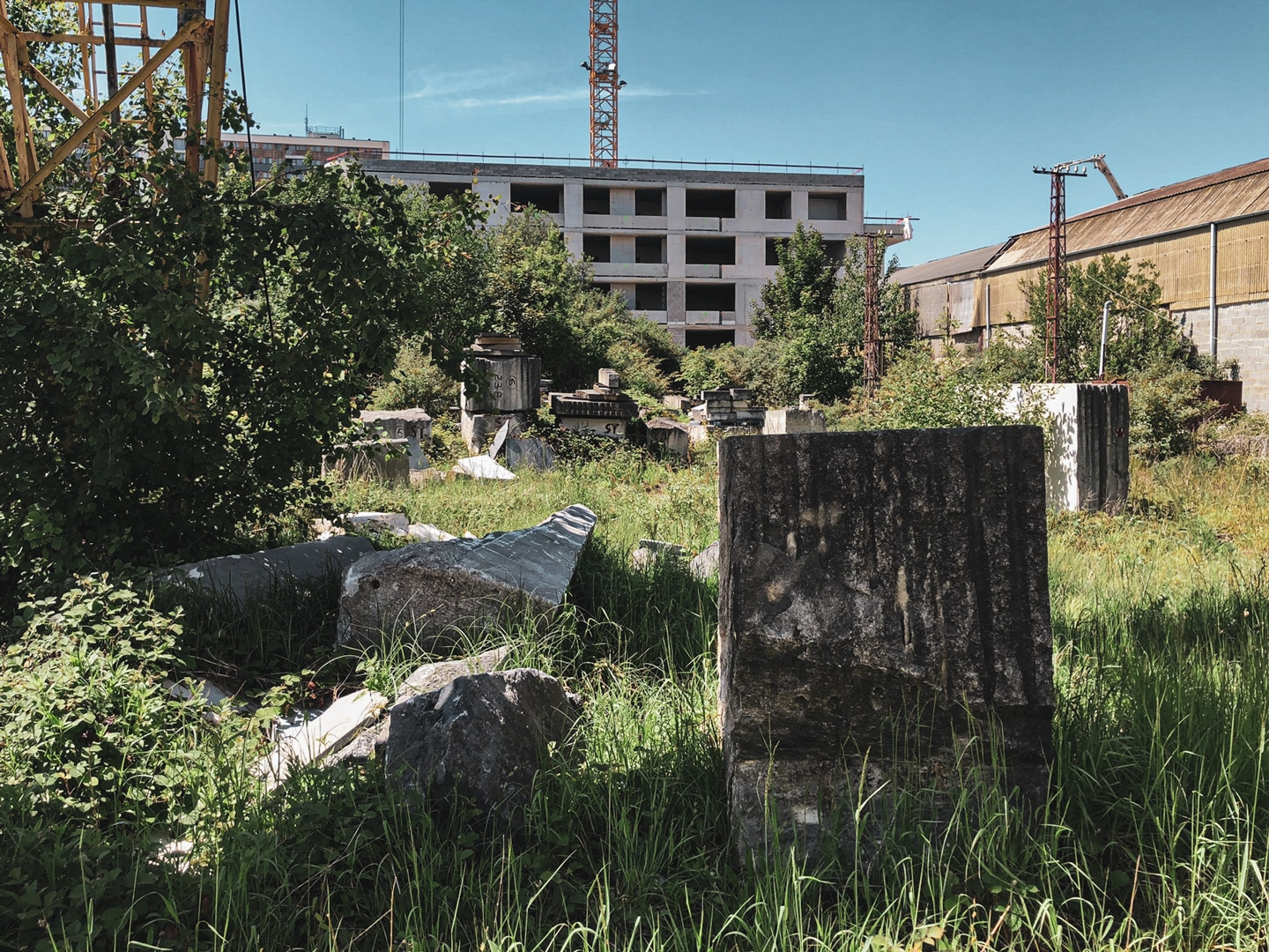 An abandoned industrial site