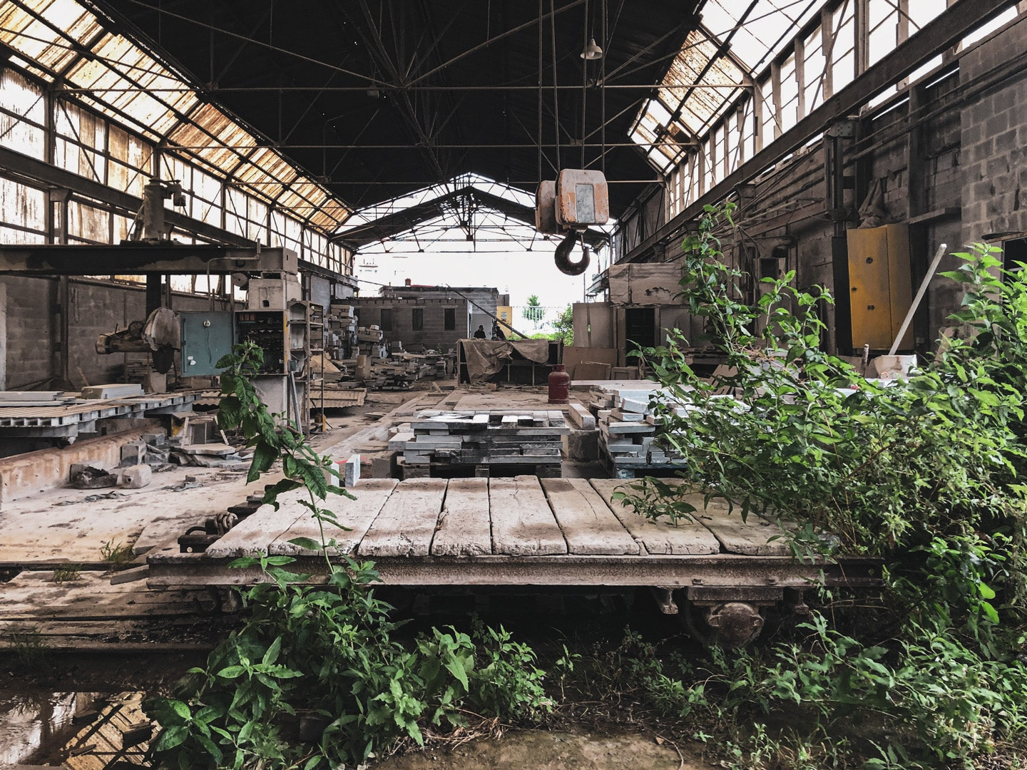 Devalued and abandoned industrial function in northern Brussels