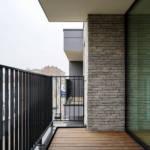 Generous balconies overlooking Chaussée Heacht