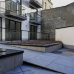 Details of the landscaping project for a residential courtyard